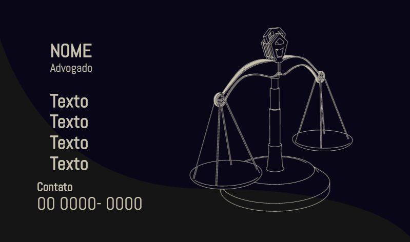 Cartão de visita Advogado 0001